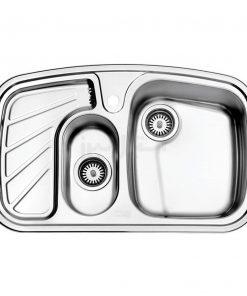 سینک دو لگن توکار استیل البرز مدل 608/50
