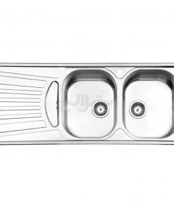سینک دو لگن توکار استیل البرز مدل 725/50