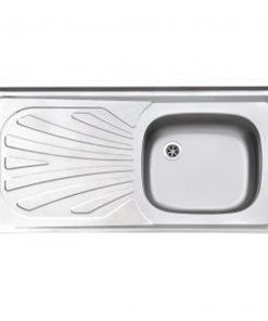 سینک تک لگن استیل البرز مدل کلاسیک تک سینی 50×100