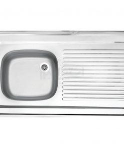 سینک تک لگن روکار استیل البرز مدل کلاسیک 60×100