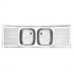 سینک دو لگن استیل البرز مدل دو سینی کلاسیک 50×150